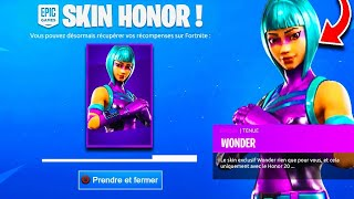 "VOICI HOW DO THE HONOR SKIN ""WONDER"" ON FORTNITE!"