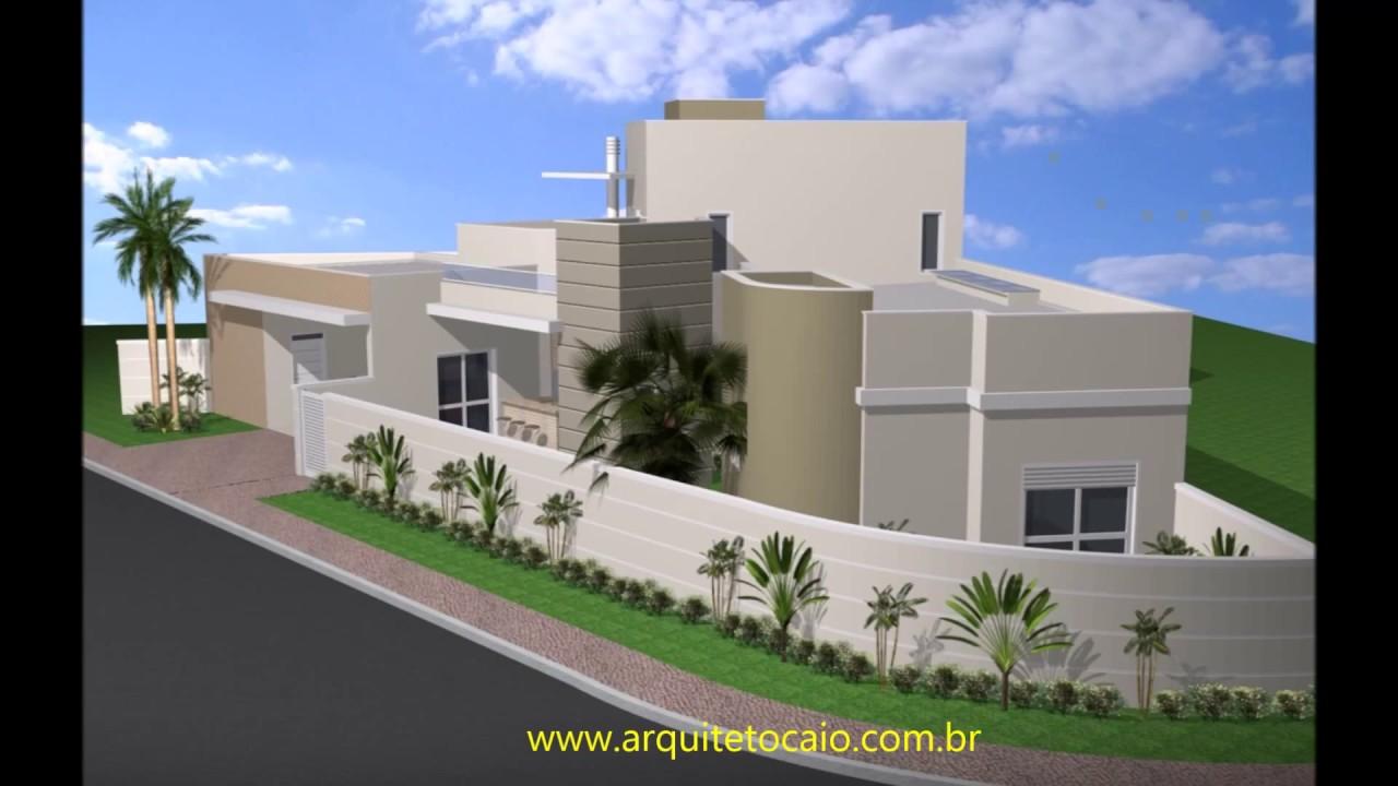 Projeto casa t rrea com mezanino em terreno de esquina for Disenos de casas en esquinas