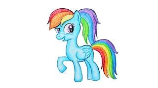 Уроки рисования. Как нарисовать ПОНИ РАДУГУ ДЭШ мелками ArtBerry How to draw pony Rainbow Dash(В этом уроке научитесь рисовать пони РАДУГУ с мультфильма