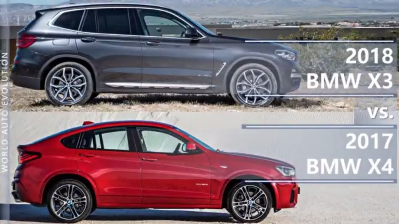 2018 BMW X3 Vs 2017 X4 Technical Comparison
