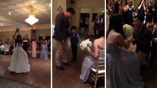 Brides Sister Proposal Surprise At Wedding