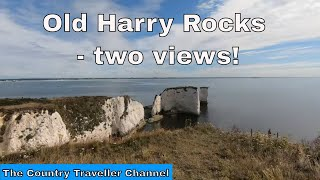 The Jurassic Coast - Old Harry Rocks - two views of the chalk stacks!