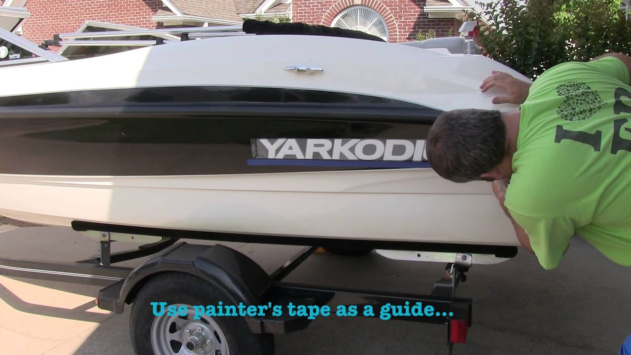 Boat Vinyl Decal Installation Tutorial YouTube - Custom houseboat vinyl numbers