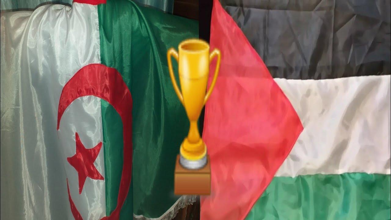 خياطة علم الجزائر وعلم فلسطين يلا لبنات وجدو العلامات ...