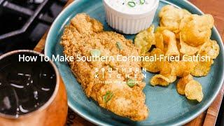 How To Make Cornmeal-Fried Catfish with Scallion Tartar Sauce