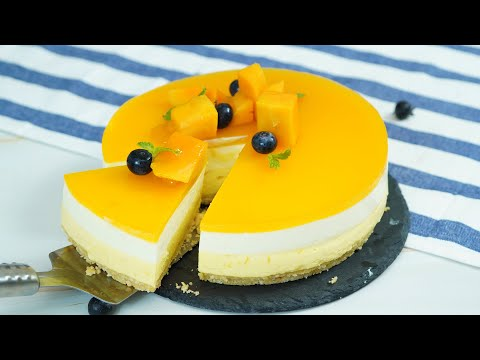 no-bake-homemade-mango-cheesecake-recipe---マンゴーレアチーズケーキの作り方