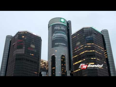 i.M. Branded GM Renaissance Center Building Wrap - 2016 Chevrolet Malibu