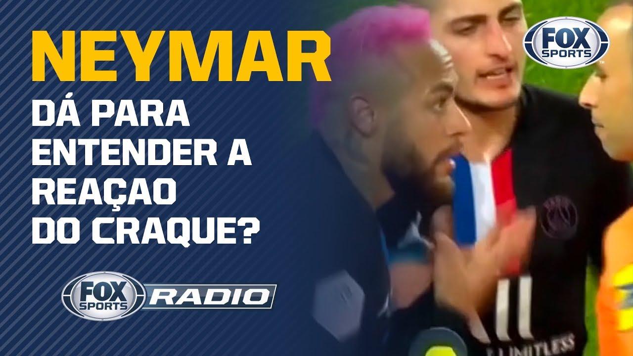 NEYMAR TENTA DRIBLE E LEVA 'BRONCA' DO ÁRBITRO; 'FOX Sports Rádio' analisa o lan