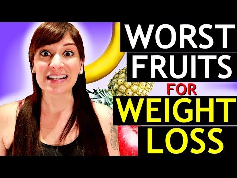 Top 5 WORST FRUITS for WEIGHT LOSS (ACTUALLY KEEPING YOU FAT)