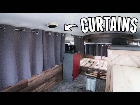 Adventure Bus Pt. 16 - Custom Window Curtains!