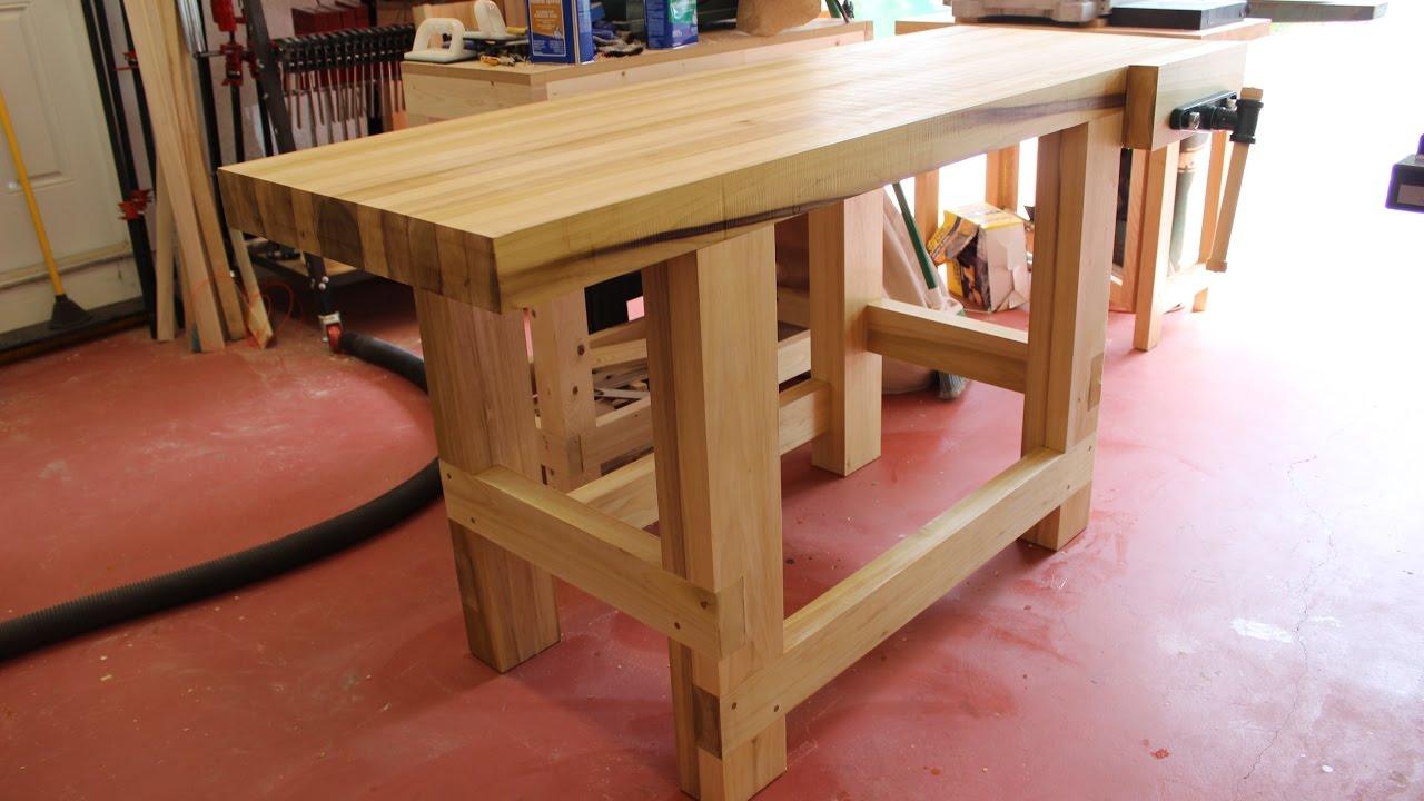 Build A Sturdy Woodworking Workbench Youtube