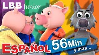 Video Los tres cerditos | Cuentos para niños | Y muchas más canciones infantiles | LBB Junior download MP3, 3GP, MP4, WEBM, AVI, FLV November 2018
