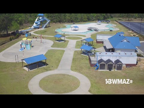Macon S Sandy Beach Water Park For Drone13 Checks Out The View
