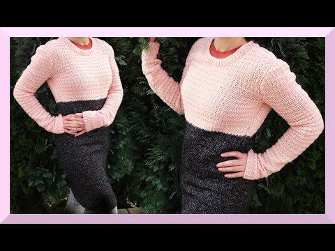 Pullover stricken einfach für Anfänger Anleitung Frühling