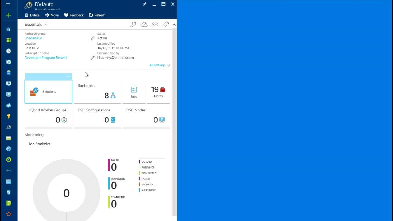 Azure Automation - Stop/Start Virtual Machine