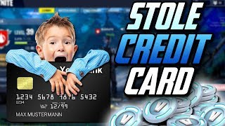 LITTLE KID STEALS HIS MOM'S CREDIT CARD AND BUYS V-BUCKS!! FORTNITE BATTLE ROYALE