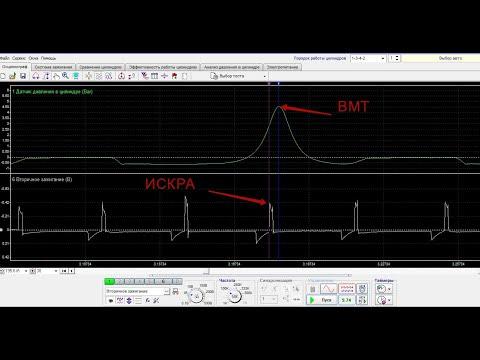 Как определить угол зажигания с помощью мотортестера Диамаг 2
