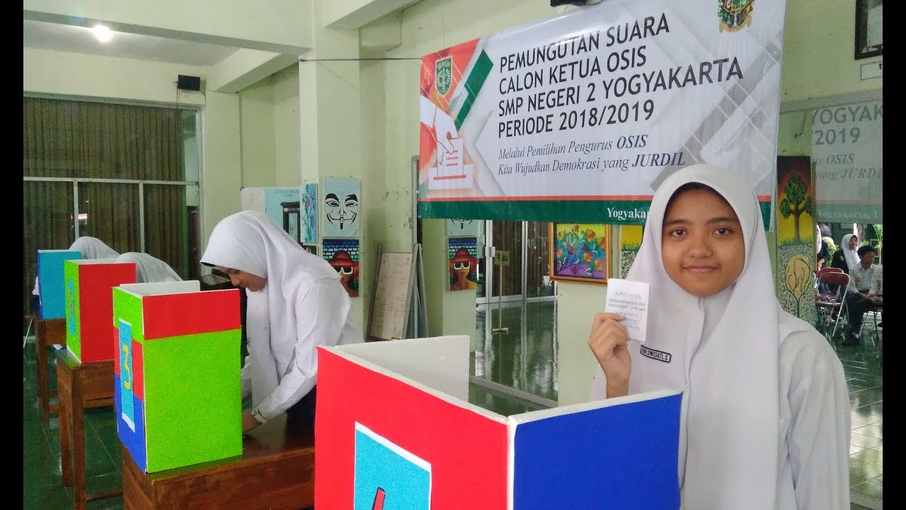 Video Pemilihan Ketua Osis Dikemas Layaknya Pemilu Ala