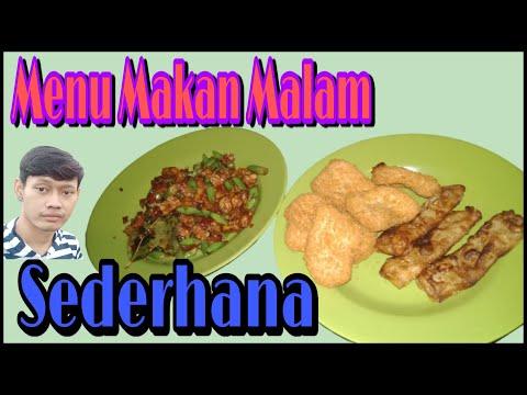 menu-makan-malamku-  -sambal-goreng-tempe-sama-buncis-  -chicken-nugget