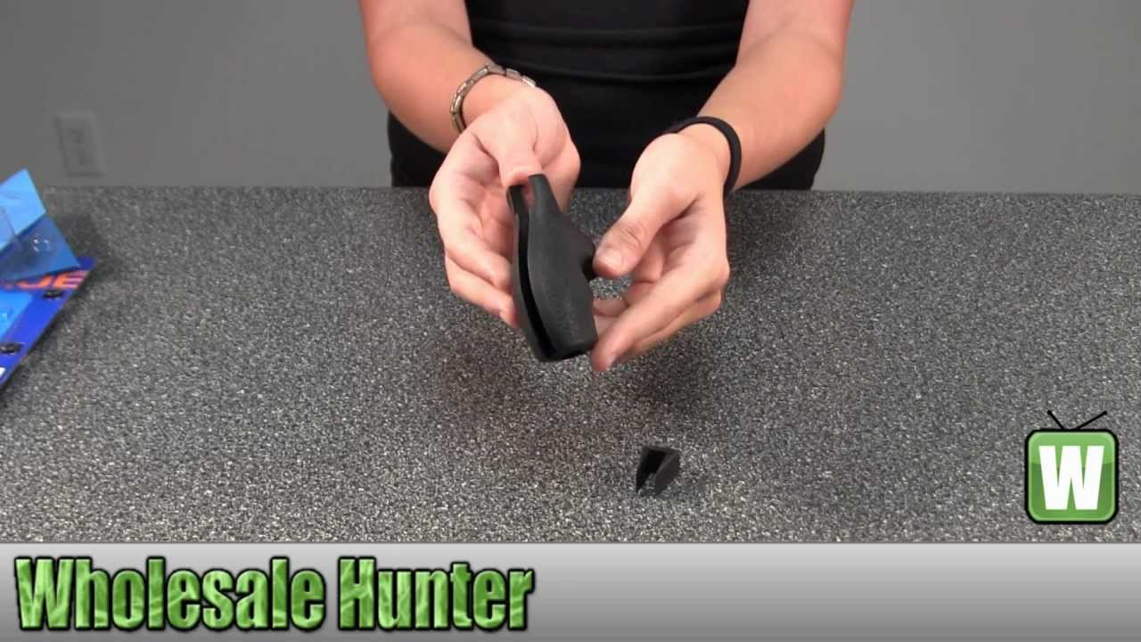 Hogue Rubber Grip for S&W J Frame Round Butt Bantam Grip 61000 Shooting  Gaming Unboxing