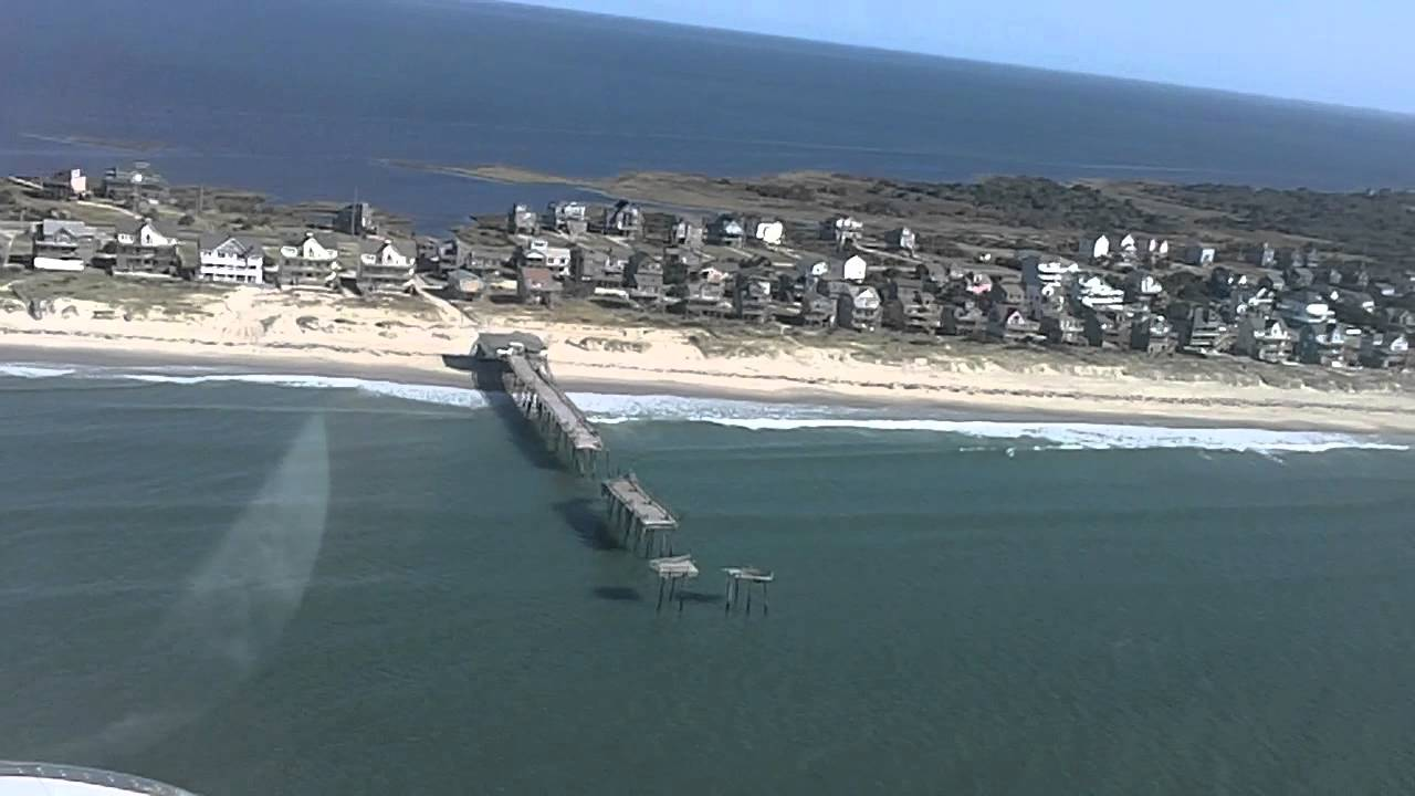 Frisco Pier Damage from Hurricane Irene - Aerial View