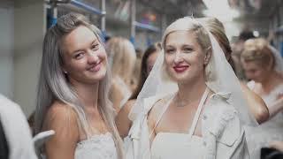 Невесты вышли на улицы Москвы в поддержку реалити канала «Ю»