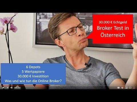 Broker Test Österreich: 30.000 € in 6 Depots mit 5 Wertpapieren 💶