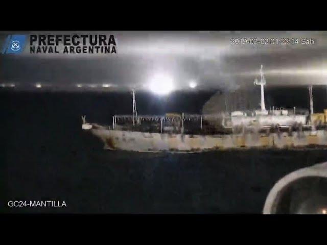 Argentina detiene pesca ilegal de buque chino