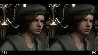[60fps] Resident Evil HD Remaster: PS4 30fps vs PC 60fps Comparison