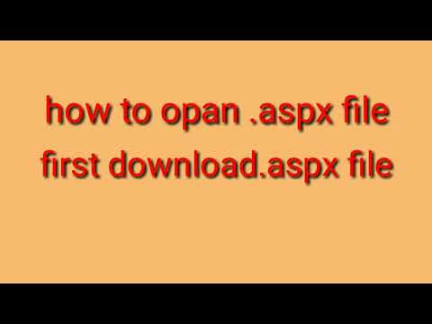 How to open.aspx file in Android phone