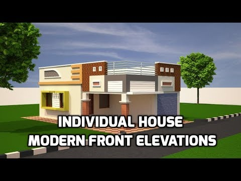 Individual House Modern Front Elevations, Single Floor Home Designs, House Elevations