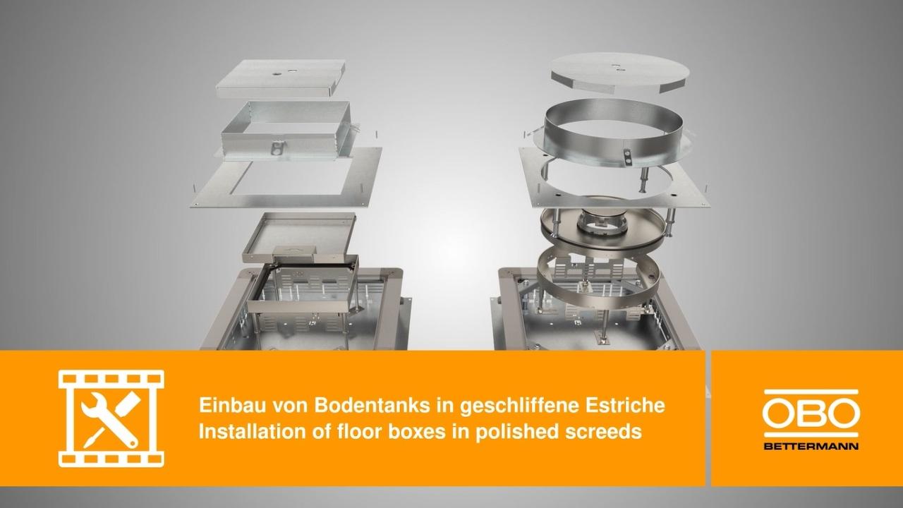 Einbau Von Bodentanks In Geschliffene Estriche Montage
