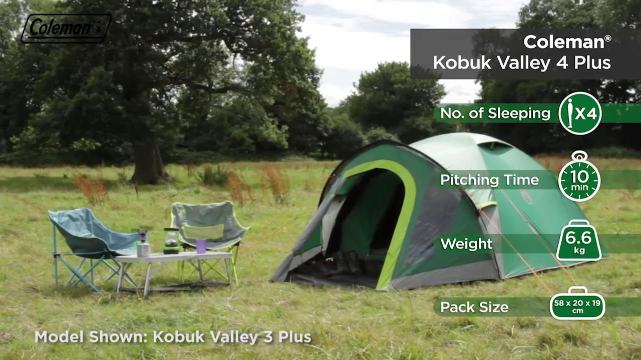 Coleman® BlackOut Bedroom Kobuk Valley 4 Plus C&ing Tent - EN & Coleman® BlackOut Bedroom Kobuk Valley 4 Plus Camping Tent - EN ...