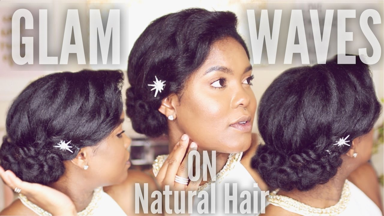 100 Years Of Holiday Hair 1930 S Pin Curl Hairstyle On Natural Hair