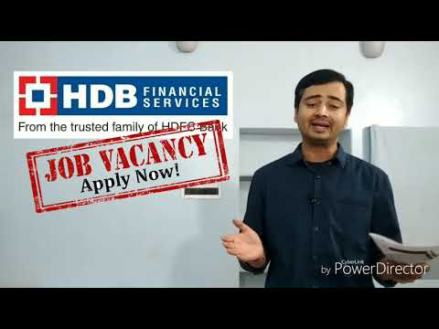 HDB Financial Services नौकरी Multiple Jobs fresher/Experience