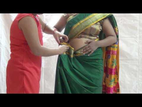 Paithani Saree Draping   Maharashtrian Saree