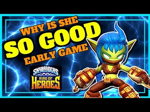 SKYLANDERS Ring of Heroes STEALTH ELF!!! - WHY YOU SHOULD BUILD HER