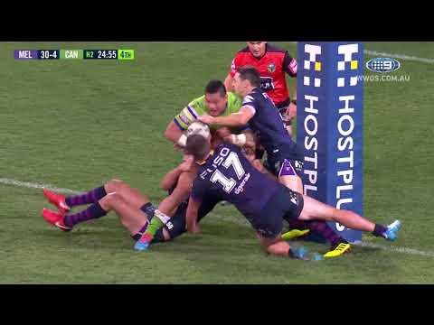 NRL Highlights: Melbourne Storm V Canberra Raiders - Round 20