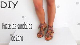 Transforma unas sandalias en las sandalias lazo de Zara / Moda 2018