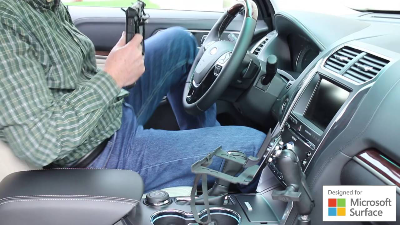 Rugged Surface Tablet Vehicle Mount Youtube