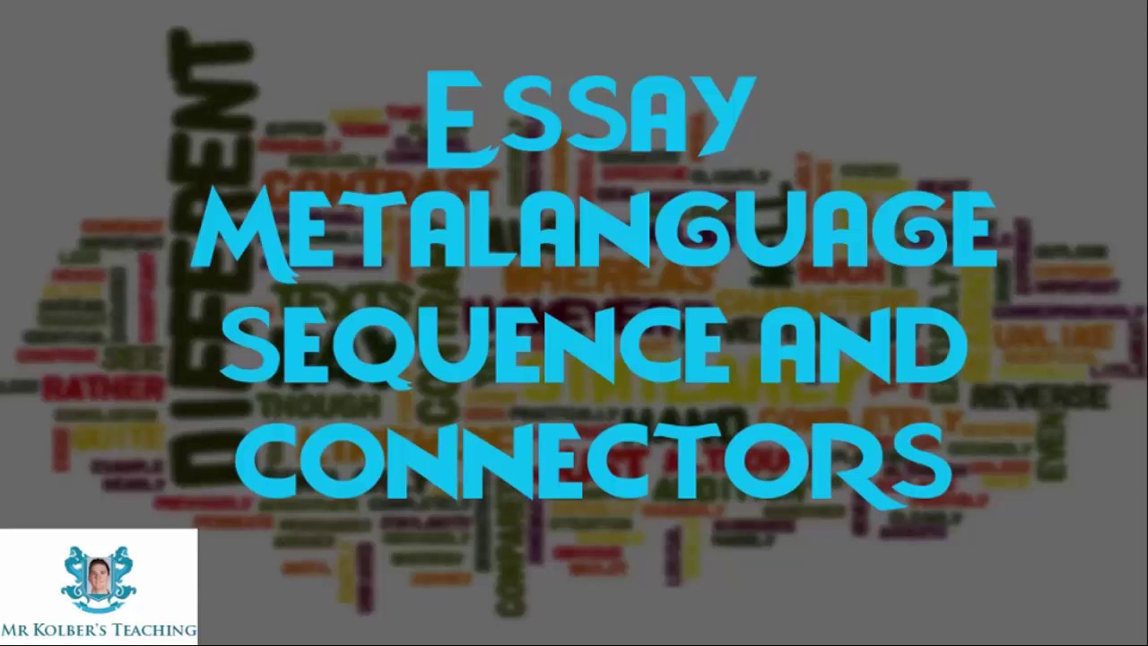 sequence connectors essay In this introduction to sentence connectors in english we will cover their use and a an introduction to sentence connectors sequence and connect ideas within.