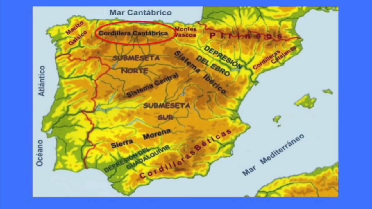 Physical Map of Spain   YouTube