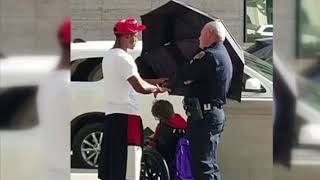 Cop Interferes With Man Doing An Act Of Kindness