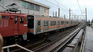 【4Kジャカルタ配給】新習志野駅に入線~発車する武蔵野線205系M63編成