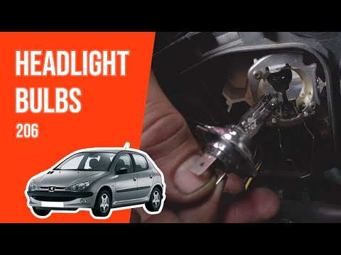 How to replace the headlight bulbs PEUGEOT 206 💡