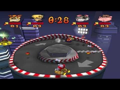 Crash Bash Walkthrough Part 14 HD 200% Warp Room 3 (Dot Dash)