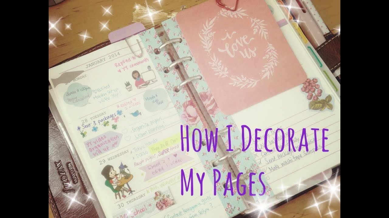 How to decorate a page