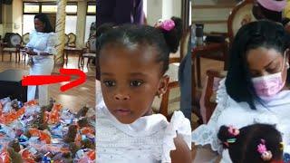 Nana ama McBrown Dance With Baby Maxin At Church For Birthday Thanksgiving