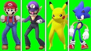 Smash Bros X Fortnite Orange Justice Dance (Chroma Key)