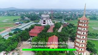 Flycam Đổ Bê Tông Tầng 7 Đại Tượng Phật A Di Đà Chùa Khai Nguyên 20 07 2017 new
